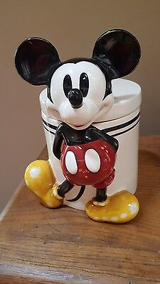 DISNEY CLASSIC MICKEY MOUSE  COOKIE JAR - RARE - HARD TO FIND - Canister