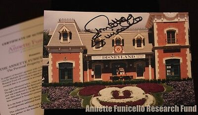 Personal Property of Annette Funicello SIGNED Photo Disneyland Railroad Station