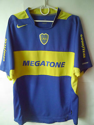 Boca Juniors Home Shirt 2004 - 2006 Jersey Trikot L