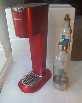 Soda Stream Limited Edition Red + Bottle + Empty Cylinder for exchange