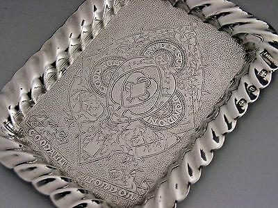 Rare Sterling Silver Playing Card Tray Goodall Advertising Antique 1894 English