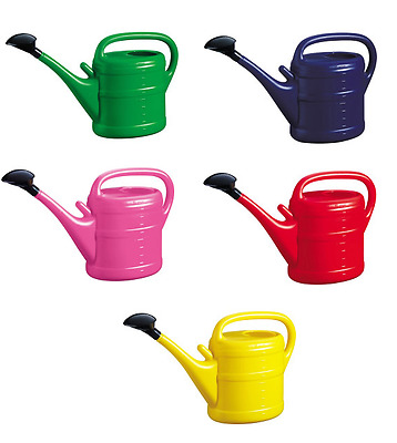Plastic Garden Watering Can 10 Litre Red Blue Pink Green Yellow 10l Vibrant