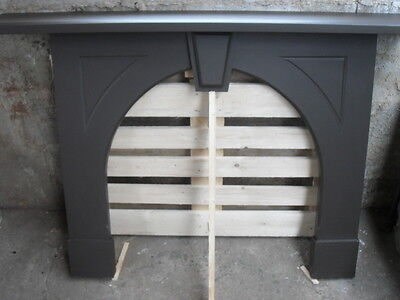 Large Rare Original Victorian Solid Cornish Slate Fire Surround with Mantle