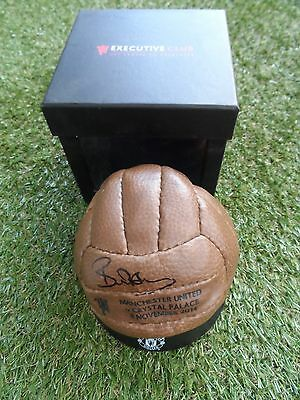 BRYAN ROBSON Hand Signed Manchester United Mini Executive Football - Man Utd