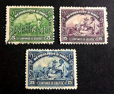 3 top very old stamps Haïti 1920
