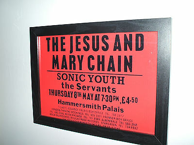 Jesus and Mary Chain Sonic Youth The Servants Framed Gig Flyer/Poster Print
