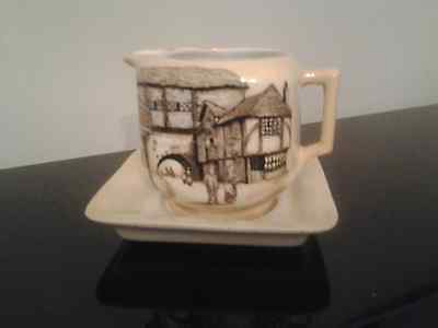 Art Deco Vintage lancaster and sandland Jolly Drover milk jug and stand