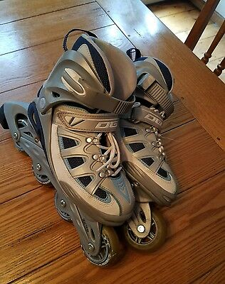 womens rollerblades obx size 6 roller blades skates grey and blue