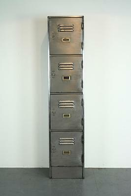 Vintage Industrial Roneo Stripped And Polished Steel School Locker Cabinet #1836