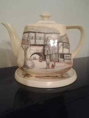 Art Deco Vintage lancaster and sandland Jolly Drover teapot and stand