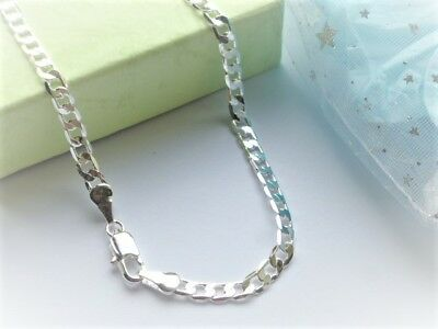 "mens silver chain silver boys neck chain 16""ins 24""in 28""in length in gift pouch"