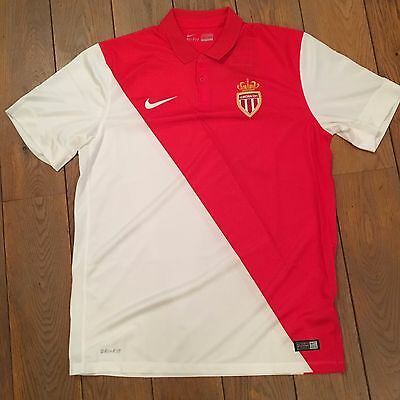 Maillot AS Monaco ASM Home Domicile Rouge et Blanc Taille L Neuf