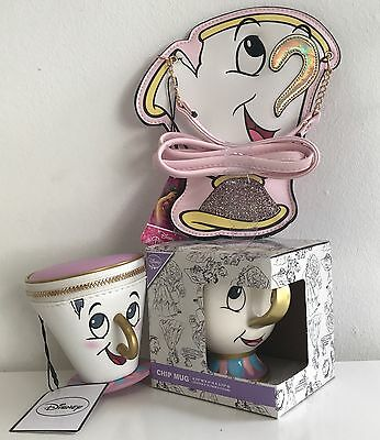Primark Ladies DISNEY Beauty And The Beast CHIP CUP MUG MINI BAG PURSE HANDBAG