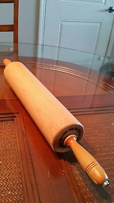 "vtg commercial 25"" wooden Thorpe Rolling pin Cheshire CT"