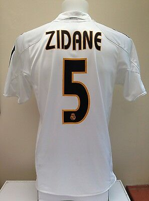 Real Madrid Football Shirt Jersey ZIDANE 5 Small S Adidas Home 2004 2005 Adult