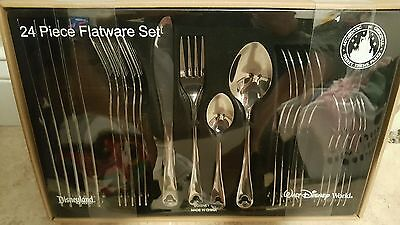 Disney Parks Mickey Mouse Flatware 24 Piece Set Silverware Stainless