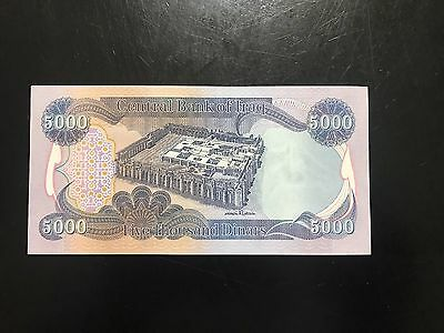 5,000 Iraqi Dinar Note Iraq Money Authentic
