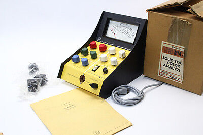 EP.I MM-9  COLOR ANALYZER WITH 6 MEMORY MODULES W/ Instruction Manual