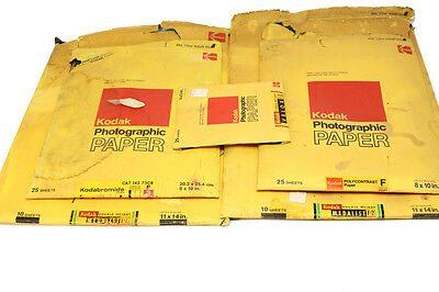 LOT OF KODAK PHOTOGRAPHIC PAPER Open box  Outdate