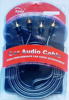 CABLE  AUDIO 2 RCA-2 RCA GOLD 5m. OFC DOBLE AISLAMIENTO ORX-5