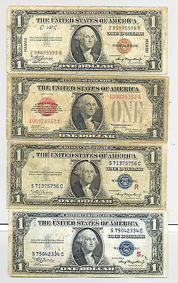 Small size $1 bills: Hawaii, R + S Experimental Pair and 1928 United States Note