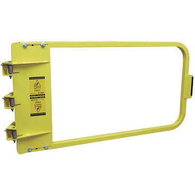 PS DOORS Carbon Steel Safety Gate,38-3/4 to 42-1/2 In,Steel, LSG-40-PCY, Yellow