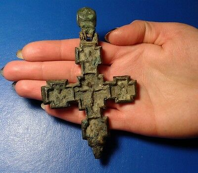 Ancient Bronze Cross-encolpions. 10th to the mid-14th century. Very Rare !!!