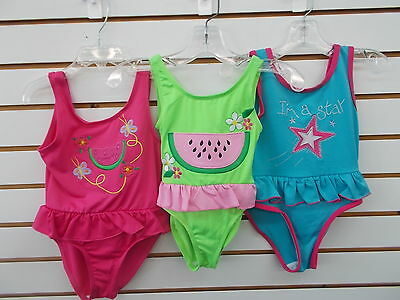 Infant & Toddler Girls Sahara Club Assorted 1pc Swimsuits Sizes 24 Months - 4T