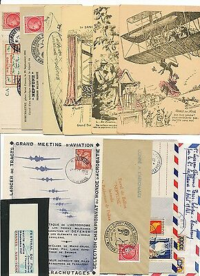 France - Aviation 1910-61 Group covers & cards. Attractive lot