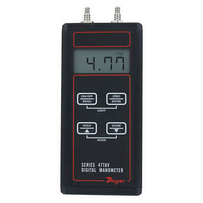 DWYER Manometer Kit,Digital,30.00 psi, 477AV-6