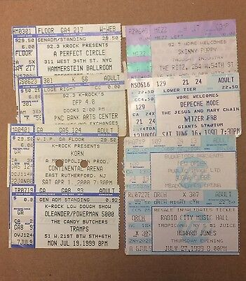1999-2001 Rock Concert Ticket Lot 8 Depeche Mode Korn DFP (Creed OZZY Etc) ++