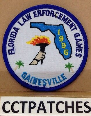 Gainesville, Florida Law Enforcement Olympics Games 1996 (Police) Patch Fl
