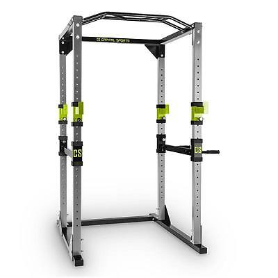 Home Gym Steel Power Rack Square Steel Green Body Work Out Fitness Sport Dips