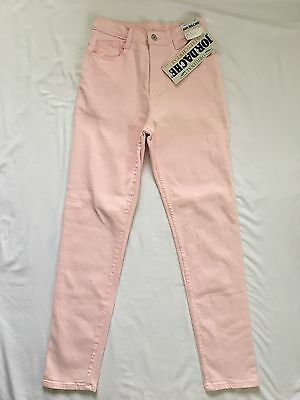 NEW Vintage Jordache Women's Skinny High Waist Colored Light Pink Jeans Jeggings