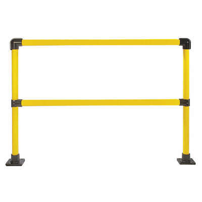 HOLLAENDER Handrail Section,6 Ft,Steel, 50231, Yellow and Black