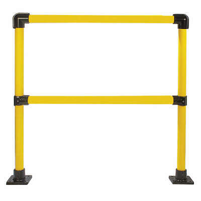 HOLLAENDER Handrail Section,4 Ft,Steel, 50221, Yellow and Black