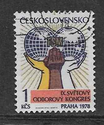 CZECH POSTAL ISSUE - 9th WORLD TRADE UNION CONGRESS 1978 - 1 kcs STAMP