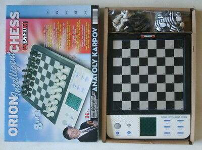 Retro Toy -Electronic Chess-New Factory Sealed- Anatoly Karpov-Orion-Intelligent