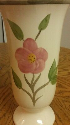 "Franciscan Desert Rose large footed vase 101/2""-Excellent Condition"
