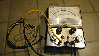 Vintage RCA WT-501A Transistor Tester - In Circuit or Out of Circuit w/ 3 Cables