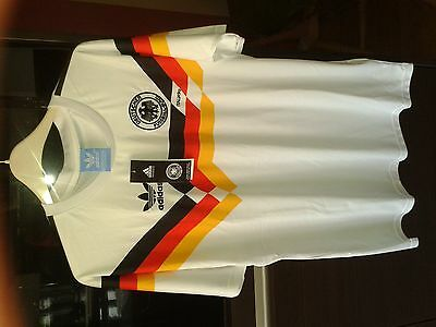 Germany italia 90 football shirt world cup size Medium