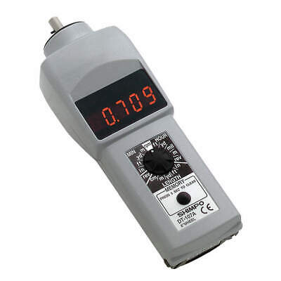 SHIMPO Tachometer,0.10 to 25,000 rpm, DT-107A