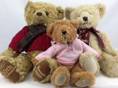 Collection 3 Harrods Teddy Bears 20th Anniversary, Pink Sweatshirt Bear