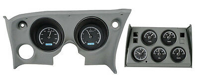 Dakota Digital 68-77 Chevy Corvette Gauges Kit with Analog Clock VHX-68C-VTA-K-W