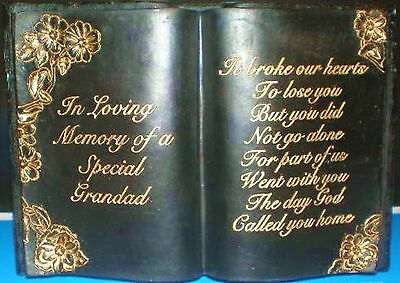 Latex Craft Mould For Special Grandad Book Memorial Art & Crafts Hobby