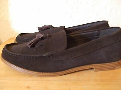 Office London Dark Brown Suede Slip-On Loafers Size 9 Uk / 43 Eu