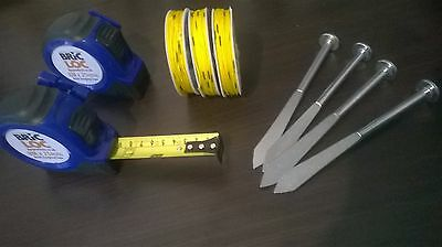 X 2 Bricklayers tape measure not Fisco Brickmate