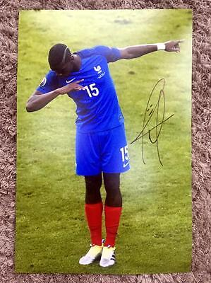 Paul Pogba Original Hand Signed Photo 12x8 COA *France/Man Utd*