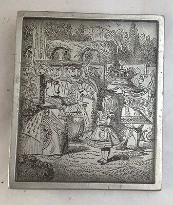 Vintage Bergamot belt buckle Alice In Wonderland