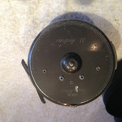 """Vintage Hardy St Andrew 4 1/8"""" Salmon Fly Fishing Reel + Case"""